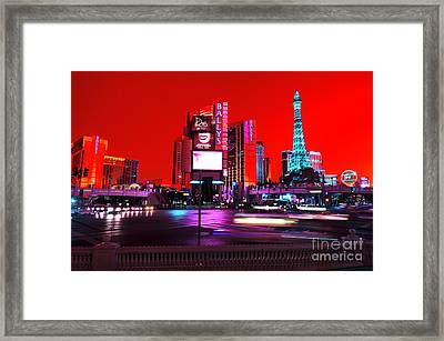 Las Vegas Funk Framed Print by John Rizzuto