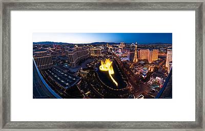 Las Vegas Glitter Framed Print