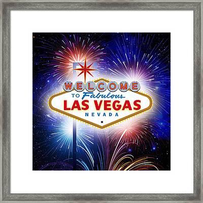 Las Vegas In Optima Forma Framed Print by Nop Briex