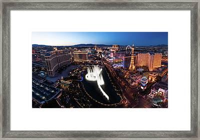 Las Vegas Lights Framed Print