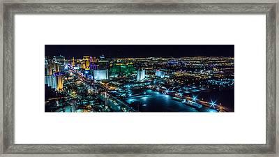 Las Vegas Looking North Framed Print