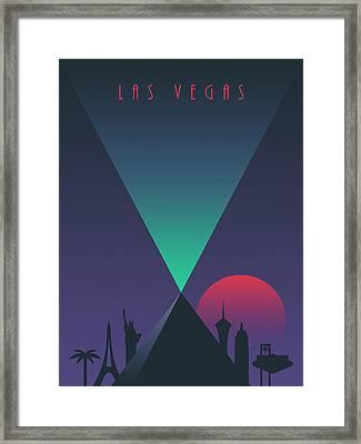 Las Vegas Luxor Casino Art Deco 80's Tourism Framed Print