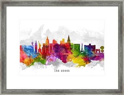 Las Vegas Nevada Cityscape 13 Framed Print by Aged Pixel