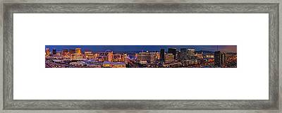 Framed Print featuring the photograph Las Vegas Panoramic Aerial View by Susan Candelario
