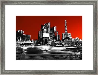 Las Vegas Red Fusion Framed Print by John Rizzuto