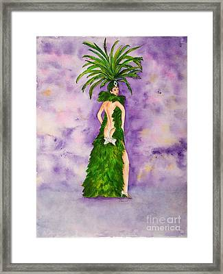 Framed Print featuring the painting Las Vegas Show Girl by Vicki  Housel