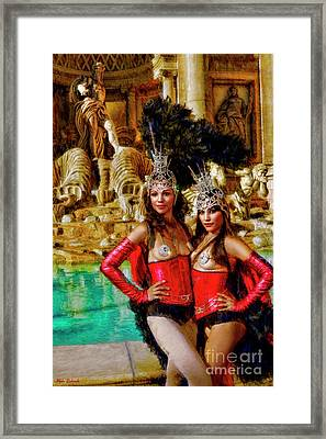 Las Vegas Showgirls Framed Print