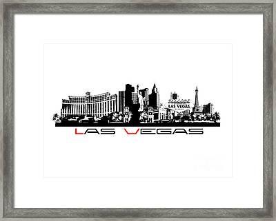 Las Vegas Skyline City Framed Print