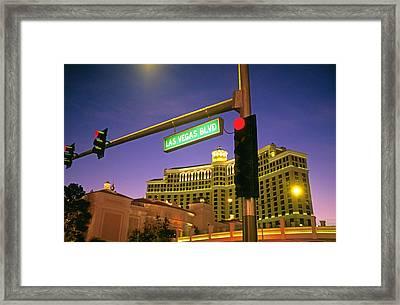 Las Vegas Strip Framed Print by Buddy Mays