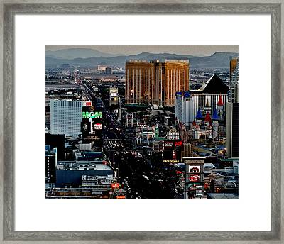 Las Vegas Strip Framed Print