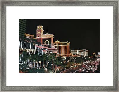Las Vegas Strip Oil On Canvas Framed Print
