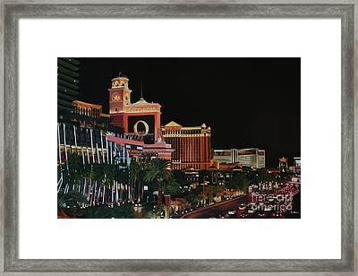 Las Vegas Strip Oil On Canvas Painting Framed Print