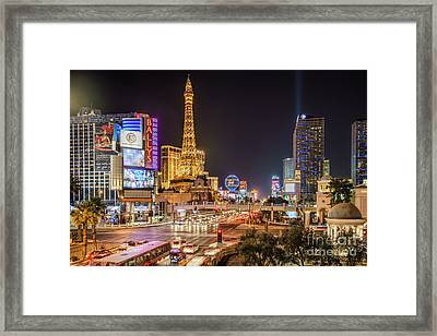 Las Vegas Strip Paris Framed Print