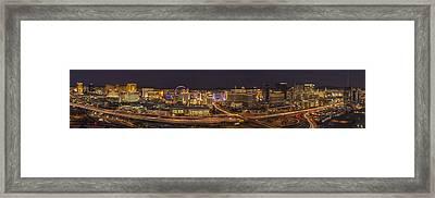 Las Vegas Strip Framed Print by Roman Kurywczak