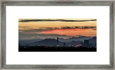 Framed Print featuring the photograph Las Vegas Sunrise July 2017 by Michael Rogers