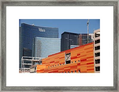 Las Vegas Under Construction Framed Print by Susanne Van Hulst