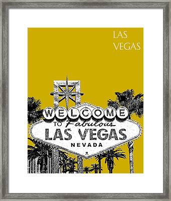 Las Vegas Welcome To Las Vegas - Gold Framed Print