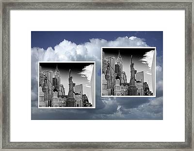 Framed Print featuring the painting Las Vegas,new York by Athala Carole Bruckner