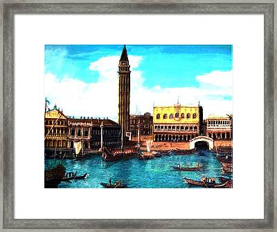 Las Venice Framed Print by Larry E Lamb
