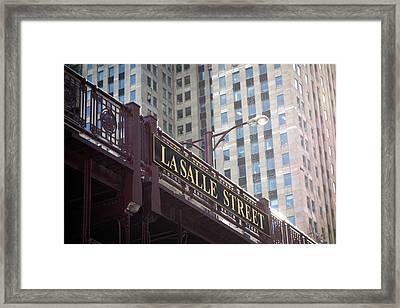 Lasalle Street Bridge - Chicago River Framed Print by Daniel Hagerman