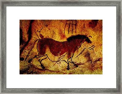 Lascaux Horse Framed Print by Asok Mukhopadhyay