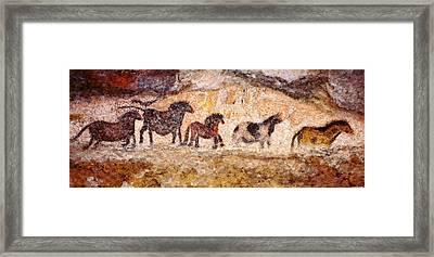 Lascaux Horses Framed Print