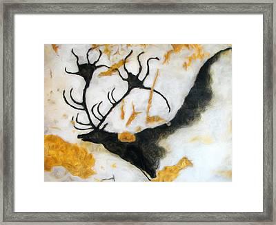 Lascaux Megaceros Deer 2 Framed Print