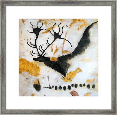 Lascaux Megaceros Deer Framed Print