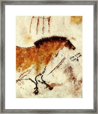 Lascaux Prehistoric Horse Detail Framed Print