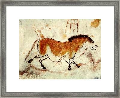 Lascaux Prehistoric Horse Framed Print by Weston Westmoreland