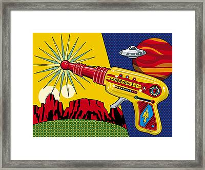 Laser Gun Framed Print by Ron Magnes