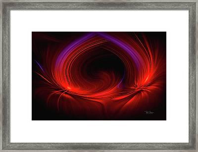 Laser Light In Red Framed Print