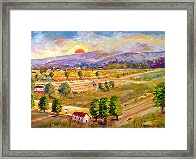 Lasithi Valley In Greece Framed Print