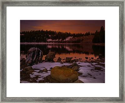 Lassen County Crater Lake Framed Print by Michele James