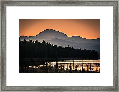 Lassen In Autumn Glory Framed Print by Jan Davies