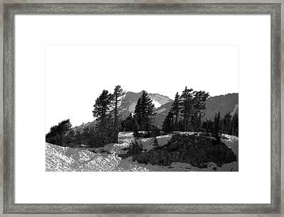 Framed Print featuring the photograph Lassen National Park by Lori Seaman