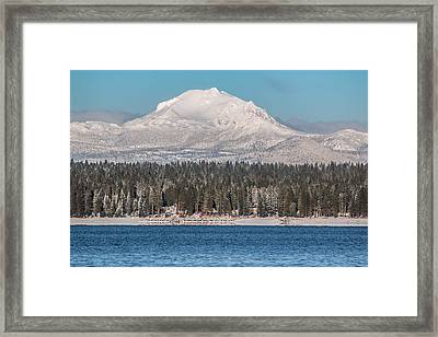 Lassen On Christmas Morning Framed Print by Jan Davies