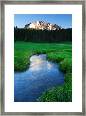 Lassen Reflections Framed Print by Eric Foltz