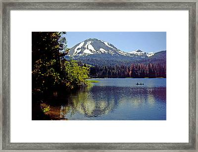 Lassen Reflections Framed Print by Rod Jones