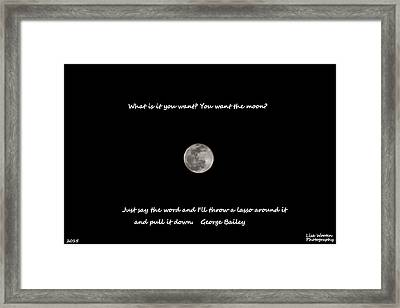 Framed Print featuring the photograph Lasso The Moon by Lisa Wooten