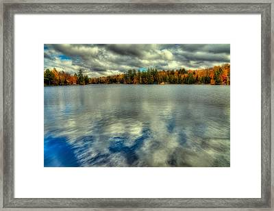 Last Bit Of Autumn On Old Forge Pond Framed Print by David Patterson