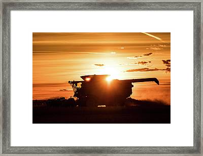Last Bit Of Sun Framed Print by Todd Klassy