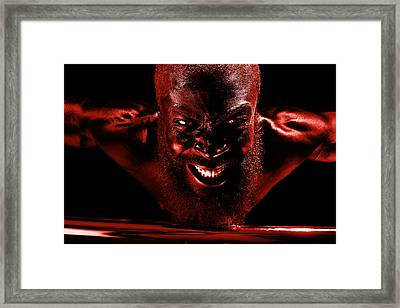 Last Bloody Pull Up Framed Print by Val Black Russian Tourchin
