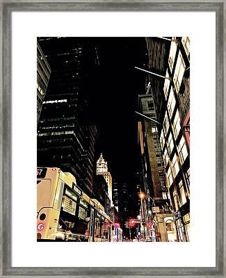 Last Bus Framed Print by Gillis Cone