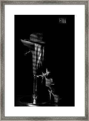 Last Call In Black And White Framed Print