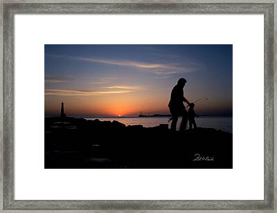 Last Catch Of The Day Framed Print by Frederic A Reinecke