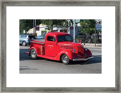 Framed Print featuring the photograph Last Chance Hose Company by Suzanne Gaff