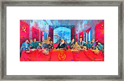 Last Communist Supper 10 Colorful - Pa Framed Print by Leonardo Digenio