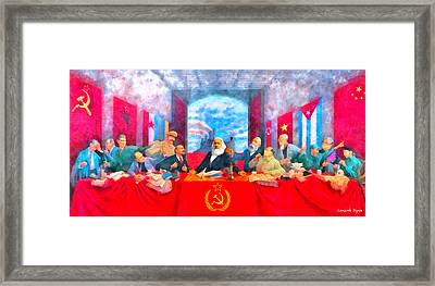 Last Communist Supper 20 - Da Framed Print by Leonardo Digenio