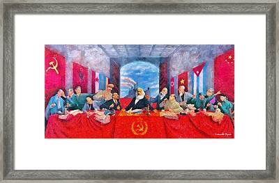 Last Communist Supper 30 - Pa Framed Print by Leonardo Digenio